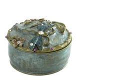 配件箱被修宝石的小装饰品 免版税图库摄影