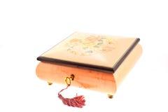 配件箱被复的珠宝粉红色木头 免版税图库摄影