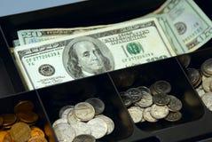 配件箱货币 图库摄影
