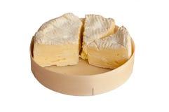 配件箱软制乳酪干酪查出的片式 免版税库存图片