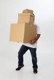配件箱运载人 库存照片