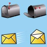 配件箱邮件 免版税库存图片