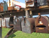 配件箱邮寄被佩带的老 库存图片