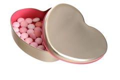 配件箱重点开放形状的银色甜点 免版税库存图片