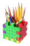 配件箱铅笔 免版税库存照片