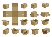 配件箱集合发运向量 免版税图库摄影