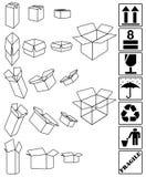 配件箱集合符号白色 免版税库存照片