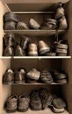 配件箱鞋子 免版税库存照片