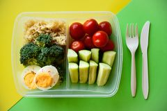 配件箱食物健康午餐 库存照片