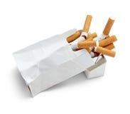 配件箱香烟 库存图片