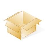 配件箱,与破折号小点的纸板镶边,开放 皇族释放例证