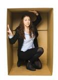 配件箱carboard妇女 库存图片