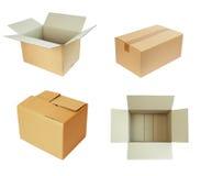 配件箱cardbord程序包 免版税库存图片