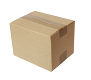 配件箱cardbord程序包 库存照片