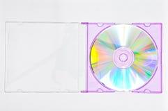 配件箱CD的紫色 图库摄影