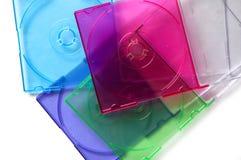 配件箱CD的颜色栈 免版税图库摄影