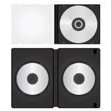 配件箱CD的dvd向量 免版税图库摄影