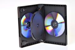 配件箱cd dvd 免版税库存图片