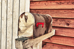配件箱grunge邮件葡萄酒 免版税库存照片