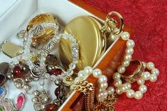 配件箱jewelery 库存照片