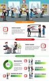 配合企业平的Infographic模板 库存例证
