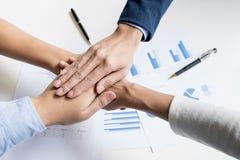 配合力量成功的业务会议工作场所概念 图库摄影