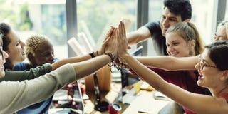 配合力量成功的会议工作场所概念 免版税图库摄影