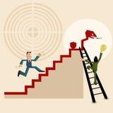 配合和创造效益 库存例证