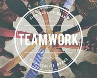 配合对组织工作合作关系概念 免版税库存照片