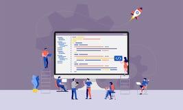 配合开发商程序员 库存例证