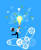 配合的企业概念 免版税库存图片