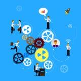 配合的企业概念 库存图片