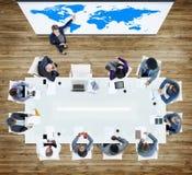 配合队合作商人团结概念 免版税库存照片