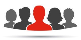 配合,职员,合作象-股票的 向量例证