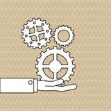 配合wirth齿轮设计,传染媒介例证 免版税图库摄影