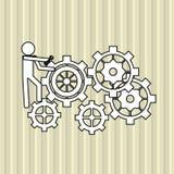 配合wirth齿轮设计,传染媒介例证 免版税库存照片