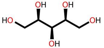 配方结构上的木糖醇 向量例证