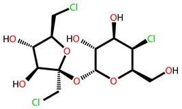 配方结构上的sucralose 库存例证