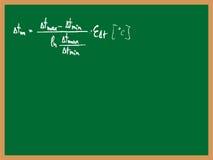 配方表 向量例证