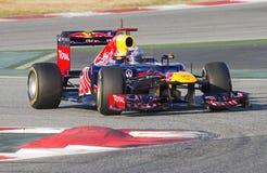 配方1 -塞巴斯蒂安Vettel 免版税库存照片