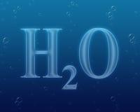 配方h2o水 免版税库存照片