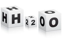 配方h2o 向量例证