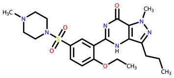 配方sildenafil结构上的威耳阿格拉 皇族释放例证