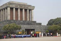 配比在线的京族参观胡志明陵墓 库存图片