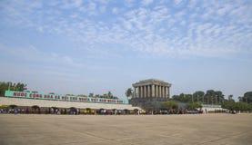 配比在线的京族参观胡志明陵墓 库存照片