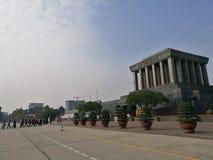 配比在线的京族参观胡志明陵墓 免版税库存图片