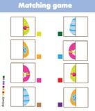 配比的儿童教育比赛 开玩笑活动 比赛怂恿零件 盘旋您色的复活节彩蛋eps10空间文本主题的向量 库存例证