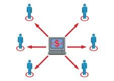 配电器对财富的例证人员 免版税库存图片