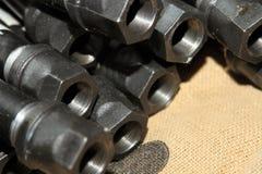 配管管子-新建工程 图库摄影