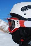 配置文件滑雪者挡雪板 免版税库存照片